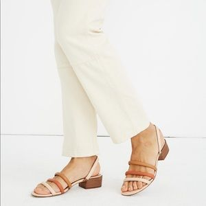 Madewell Addie Slingback Sandal in Leather